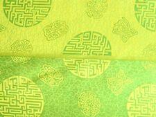 70 % Seide beidseitig verwendbar Meterware gelb / grün