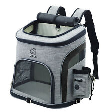 More details for pet dog cats carrier backpack bag with mesh for small medium dogs cats, puppy