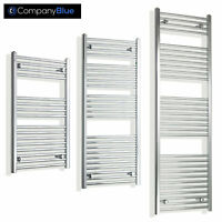 550mm Wide Chrome Heated Towel Rail Radiator Bathroom Ladder Flat Central Heat