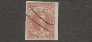 Confederate States #5 nice 4 margin copy pen cancel