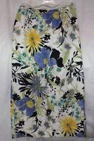 TALBOTS Blue & Yellow Floral Long Maxi Skirt Womens Size 4-B19