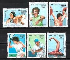JO été Bénin (2) série complète de 6 timbres oblitérés