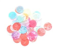 50pcs Color 13MM 15MM 18MM Flat Round Mother Of Pearl Shell Coin Charm Beads