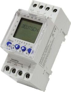 Digitale Zeitschaltuhr 2 Kanal 230V für Hutschiene Zählerschrank Zyklus + Impuls