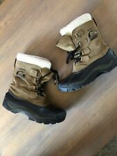 Sorel Badger Leather Insulated Winter Snow Boots Mens Size 7 or Women's size 8.5