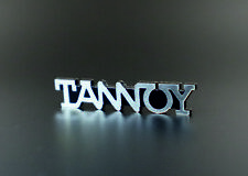Logo  TANNOY  48 x 9mm   self-adhesive, replacement.