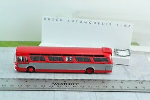 Busch 44501 GMC Fishbowl Bus Red 1:87 HO Scale