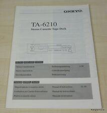Onkyo TA-6210 Bedienungsanleitung deutschsprachig