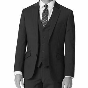 New Mens Formal 100% Wool Blazer Black 2 Buttons Front Coat Office Work Jackets