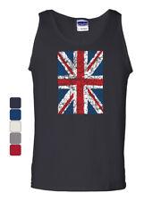 Union Jack Tank Top UK United Kingdom Distressed British Flag Muscle Shirt