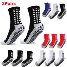 3Pairs Premium Sport Anti Slip Socks w/Grip Soccer Football Basketball Men Socks