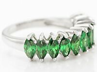 Size 5- Bella Luce 3.45ctw Emerald Simulant Sterling Silver Ring