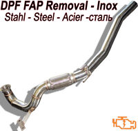 Downpipe DPF FAP Removal VW Passat 2.0 TDI 110 140 143 170 HP VAG1