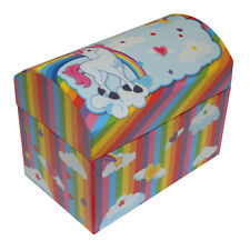 GIRLS UNICORN MAGIC COLLECTION CHEST STYLE JEWELLERY BOX WITH PULL OUT TRAY