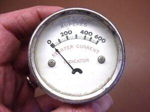 "Vintage PEERLESS INSTRUMENT Starter Current Indicator 2 1/2"" USA 0-600 Amperes"