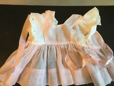 Doll Terri Lee Clothing Pink Organdy Pinafore Dress tagged 1950's