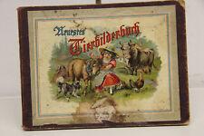 unser Tierbilderbuch altes Kinderbuch Bilderbuch um 1900