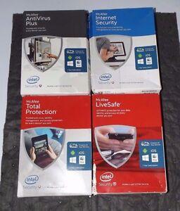 McAfee - AntiVirus Plus Internet Security Total Protection Live Safe 4 PC Bundle