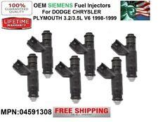 OEM Siemens <6x> Fuel Injectors for 1999 Chrysler 300M 3.5L V6 *04591308