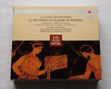 HARNONCOURT/MONTEVERDI Il ritorno d'Ulisse...GERMANY 3CD box TELDEC 2292-42496-2