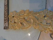 7,5cm breite Borte gold ab 1 Meter,  NEU