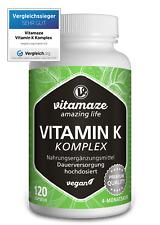 (€43,08/100g) Vitamin K Komplex K1 1.000 µg + K2 (1.000 µg MK4 + 200 µg MK7)