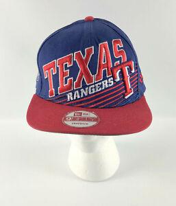 Texas Rangers Snapback Baseball Hat New Era 9Fifty Blue Red