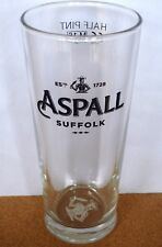 NEW UK / BRITISH - ASPALL CIDER/ CYDER (SUFFOLK) HALF PINT BEER GLASS (2016)