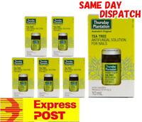 6x 10ml Thursday Plantation Tea Tree Anti-Fungal Nail Solution relief nails skin