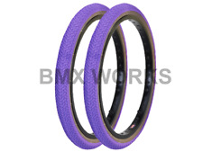 """Kenda K55 Freestyle Purple & Skinwall Sides BMX Tyres 20"""" x 1.75"""" Sold In Pairs"""