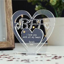 Personalised Heart Message Ornament Keepsake BFF Best Friend Forever Gift