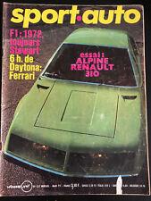 Magazine Sport Auto No 122 Mars 1972 Gp F1 Buenos Aires WRC Monte Carlo Alpine