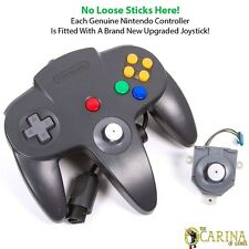 Official Black Nintendo 64 N64 Game Controller - With New Upgraded Joystick