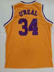 Shaquille Oneal Shaq Lakers Jersey Mitchell and Ness Mens 2XL / 52 Sewn NBA MVP