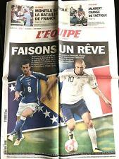 L'Equipe Journal 7/09/2010; Bosnie-France Euro 2012/ US Open; Monfils/ Jalabert