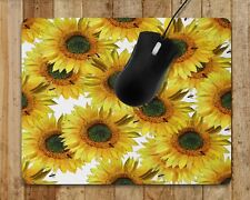 Mouse Pad Floral Sunflower Computer Mouse Pad Flower Home Decor Office Decor 17A