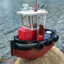 1:18 ABS En Bois Mini RC Remorqueur Bateau Bateau Harbor Tug Modèle DIY Kit Q1