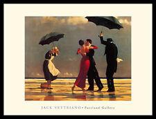 Jack Vettriano Der singende Butler Poster Bild Kunstdruck im Alu Rahmen 60x80cm
