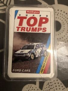 SUPER TOP TRUMPS - FORD CARS - WADDINGTONS 1992 (COMPLETE) (FREE P&P)