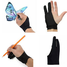1xTwo Finger Anti-fouling Glove For Artist Drawing & Pen Graphic Tablet Pad hs