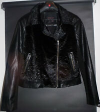 Womens ladies Wish jacket lined. Faux persian lamb fur front & collar  S12