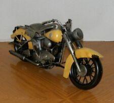 Harley Davidson Knucklehead 40's Style Motorcycle Metal Art Sculpture Rustic