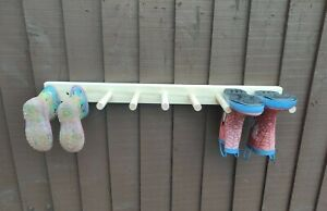 Welly wellington wellies wooden rack boot holder wall mounted MANY CHOICES