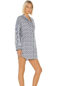 Free People Happy Holibabe Sleep Shirt in a Bag Blue Size XS Boho Nightgown NWT
