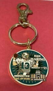 MIAMI DOLPHINS DAN MARINO HALL OF FAME INDUCTEE AUGUST 7 2005 KEYCHAIN