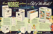 1951 vintage appliance AD, 'New '51 NORGE Appliances, double page 031414