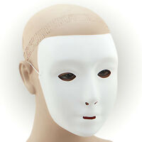 #PLAIN WHITE MASK PLASTIC FANCY DRESS ADULT MASQUERADE PARTY