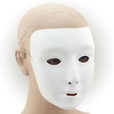 # Blanc Uni Masque PLASTIQUE Déguisement Adulte Bal Masqué