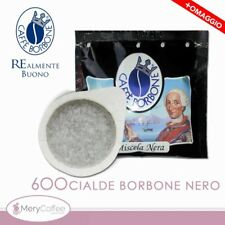 600 Cialde ESE 44 mm Caffè Borbone miscela NERA+omaggio+..