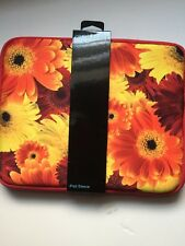 Cynthia Rowley iPad sleeve case cover FLOWERS orange yellow red